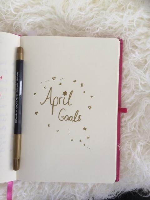 Monthly goals planner