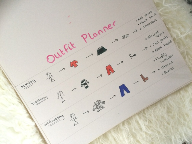 bullet journal daily outfit planner
