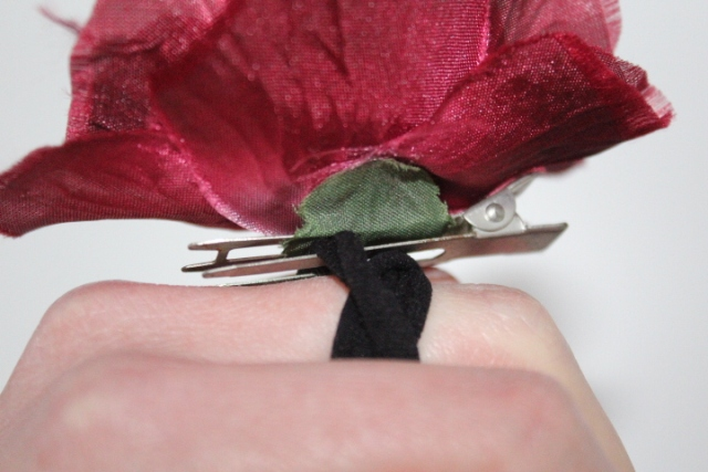Clip-on flower accessory