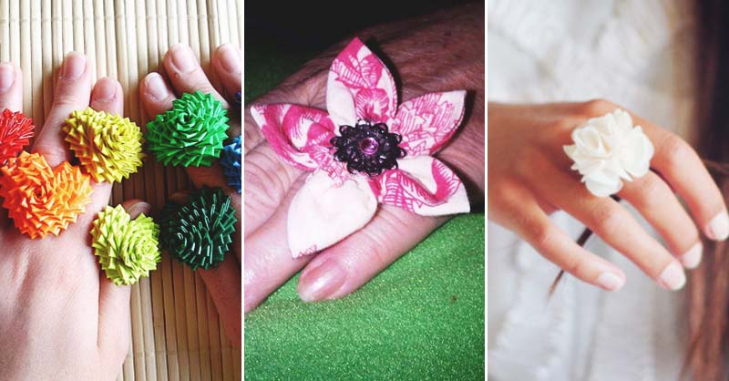 Make a fabulous fabric flower ring yourself in less than 10 minutes mightylinksfo