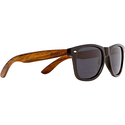 WOODIES Wayfarer Walnut Wood Sunglasses for Men or Women