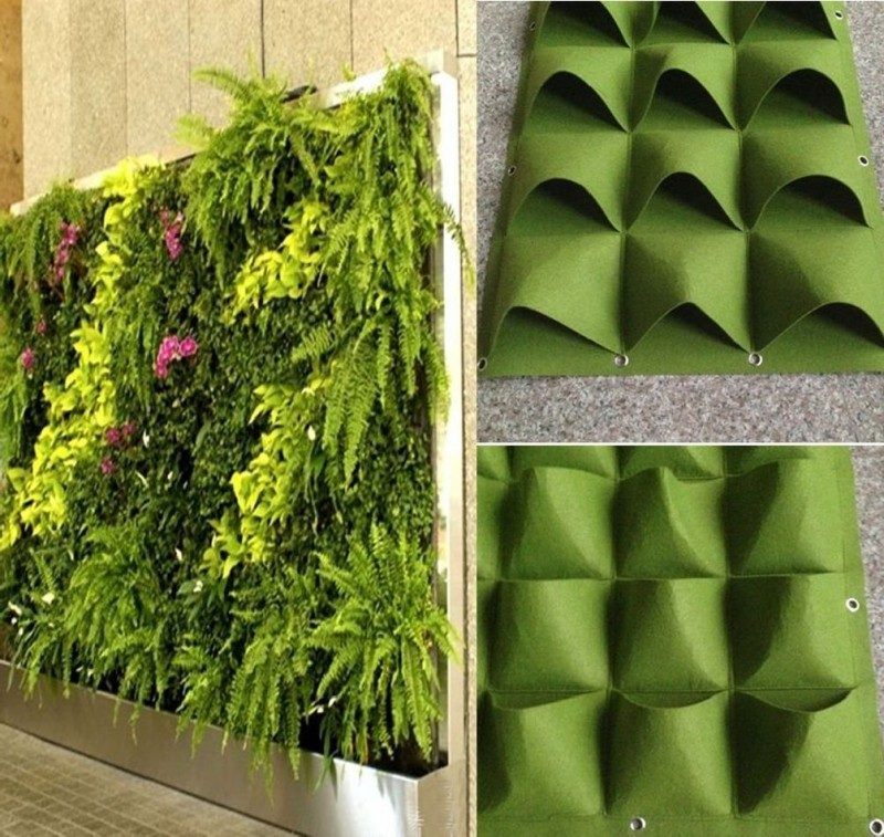 vertical pocket garden