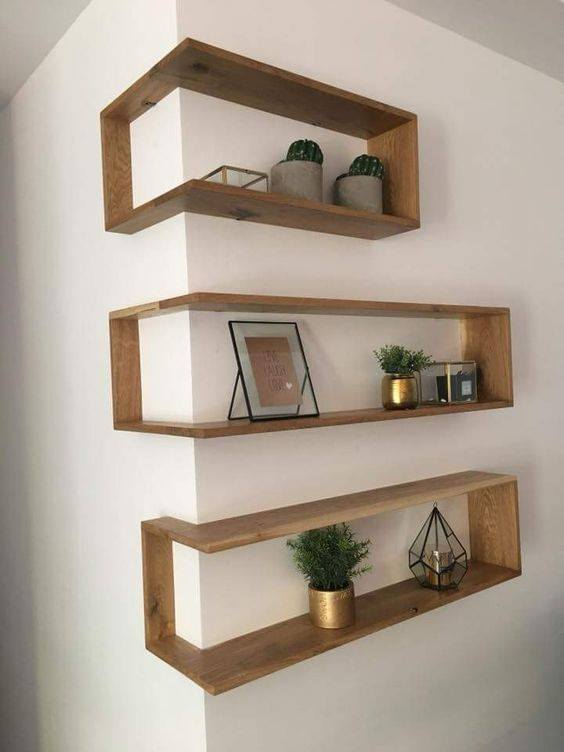 32 Grand Floating Corner Shelf Designs For New Renovation Inspiration