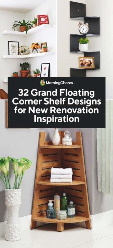 32 grand floating corner shelf designs for new renovation inspiration House Shelf Designs