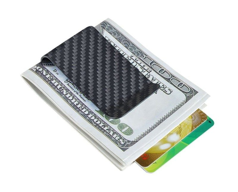 CL Carbonlife Money Clip Credit Card Holder
