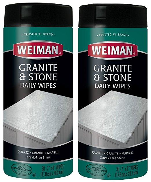 Weiman Granite Cleaner Wipes (2 Pack)