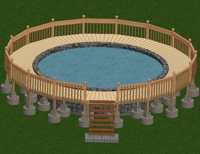 Above ground pool deck Modern If You Have An Above Ground Pool Placing Deck Around It Is An Excellent Idea For Many Reasons The Main Reason Being Safety Diy Design Decor 16 Gorgeous Pool Deck Designs And Ideas To Inspire Your Backyard Oasis
