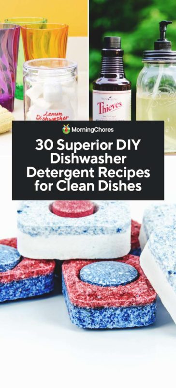 30 Superior DIY Dishwasher Detergent Recipes for Clean Dishes