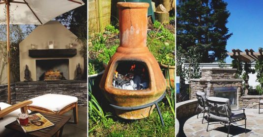 34 Fabulous Outdoor Fireplace Designs for Added Curb-Appeal