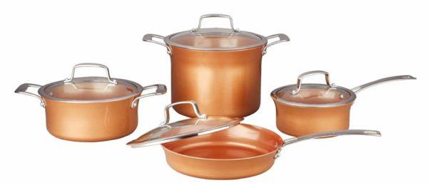 CONCORD 8-Piece Copper Cookware Set