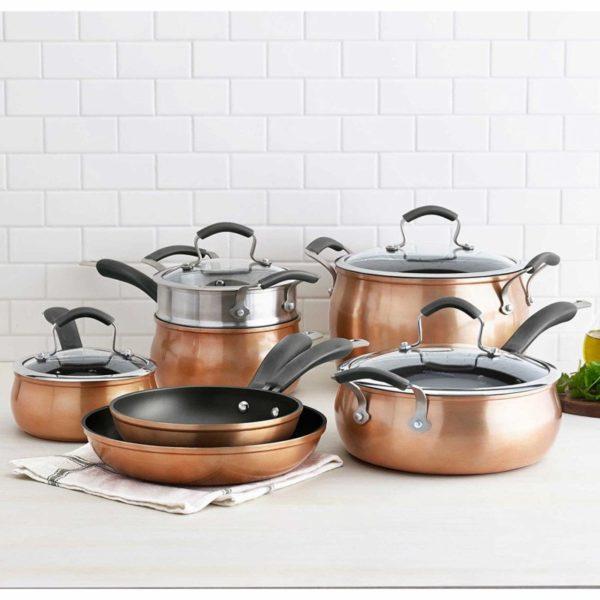Epicurious 11-Piece Copper Cookware Set