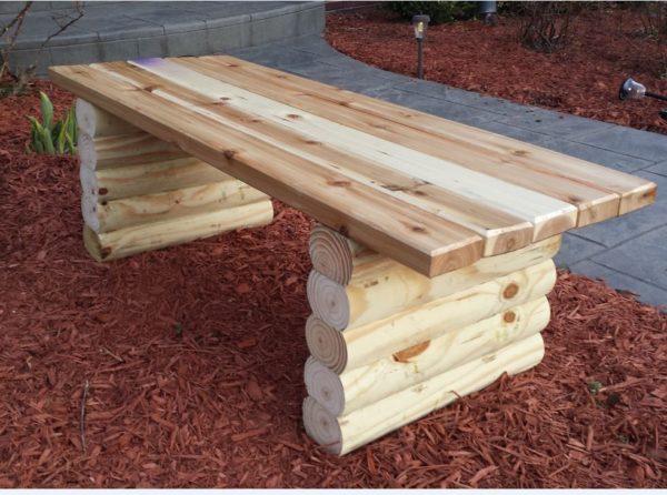 ceder garden bench
