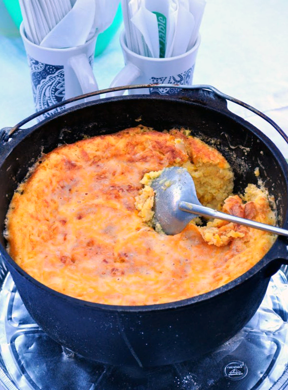 30 super easy dutch oven camping recipes for your best outdoor trips dutch oven corn casserole forumfinder Choice Image