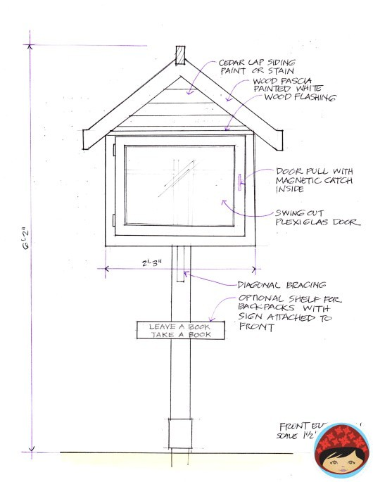 44 little free library plans that will inspire your community to read would you like to have a sturdy little library near your home or business using cedar siding is a great plan because it requires minimal upkeep malvernweather Images