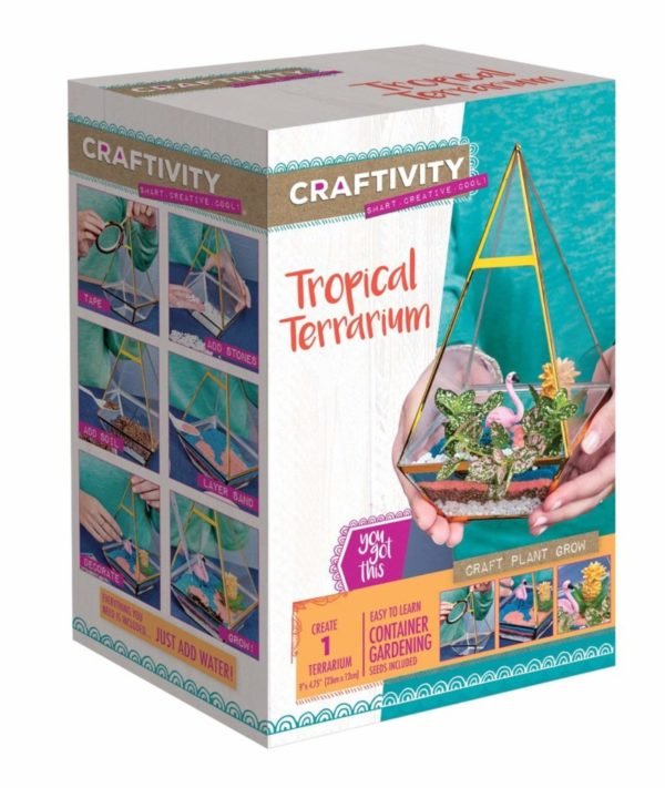 Creativity for Kids CRAFTIVITY Tropical Terrarium Kit Craft Kits for Teens
