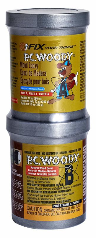 Protective Coating PC Products 16333 PC Woody Two-Part Wood Repair Epoxy Paste