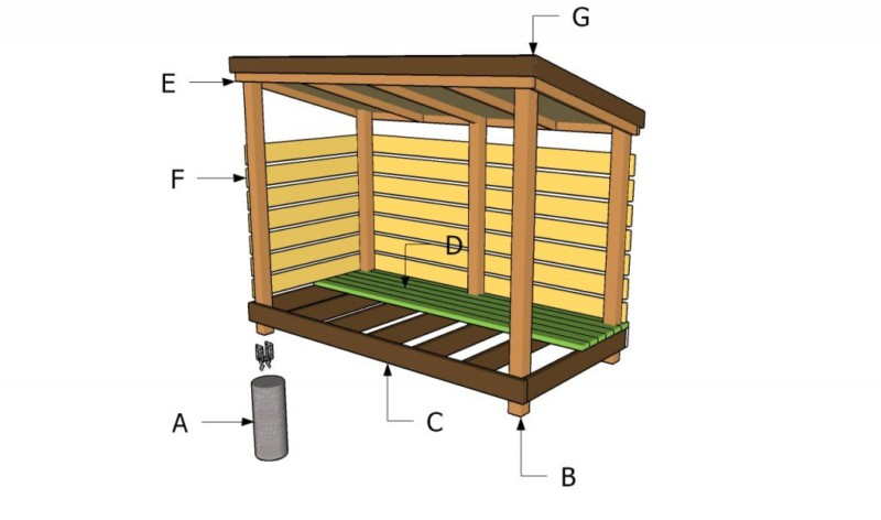 Build Cabin Plans With Loft Diy Pdf Wood Podium Plans Do: 20 Easy-to-Build DIY Firewood Shed Plans And Design Ideas