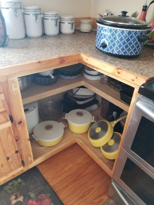 open corner cabinet