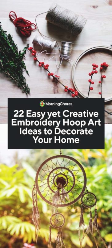 1. Floral Embroidery Hoop Art Tutorial