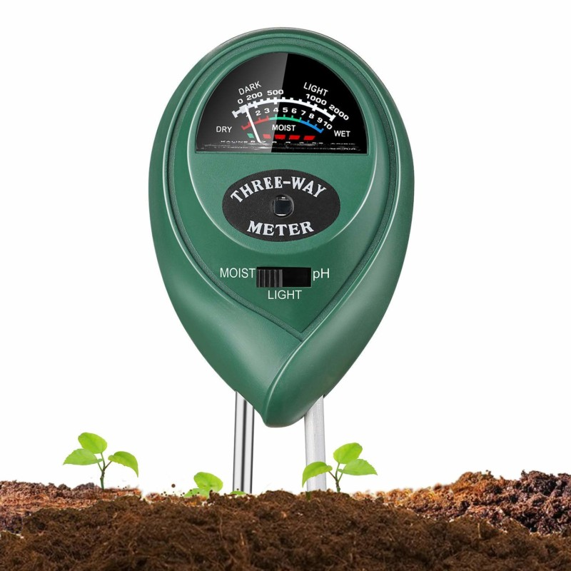 Jellas Soil 3-in-1 Soil pH Tester Meter