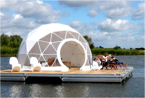 geodesic dome on the water