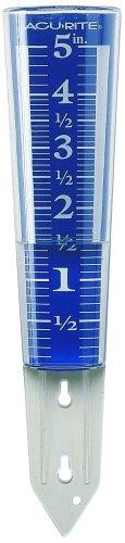 AcuRite 5-Inch Capacity Easy-Read Magnifying Rain Gauge