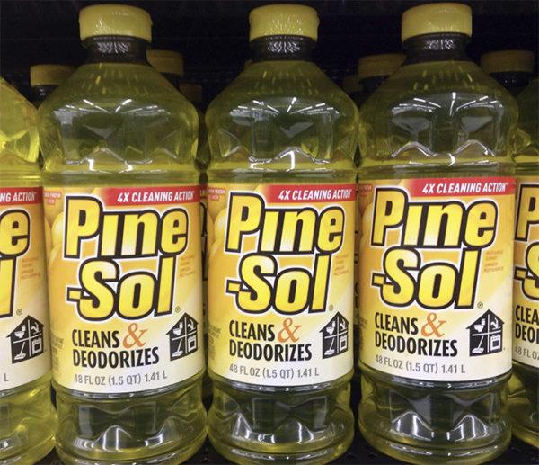 Pine-sol bottles