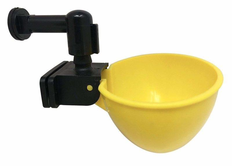 RentACoop Automatic Chicken Water Nipple Cup Waterer Kit6-pack