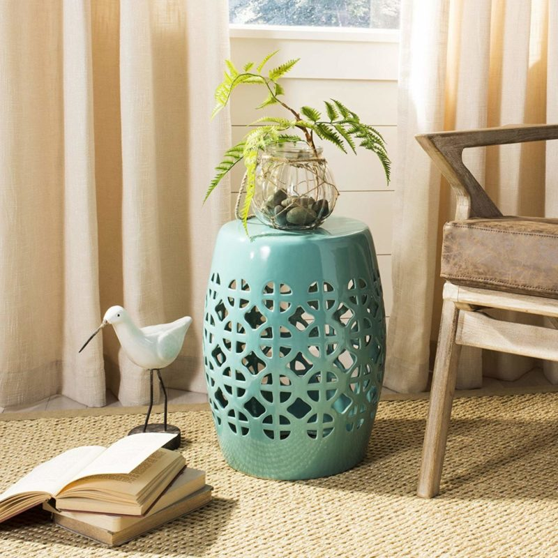 Safavieh Castle Gardens Collection Circle Ceramic Garden Stool