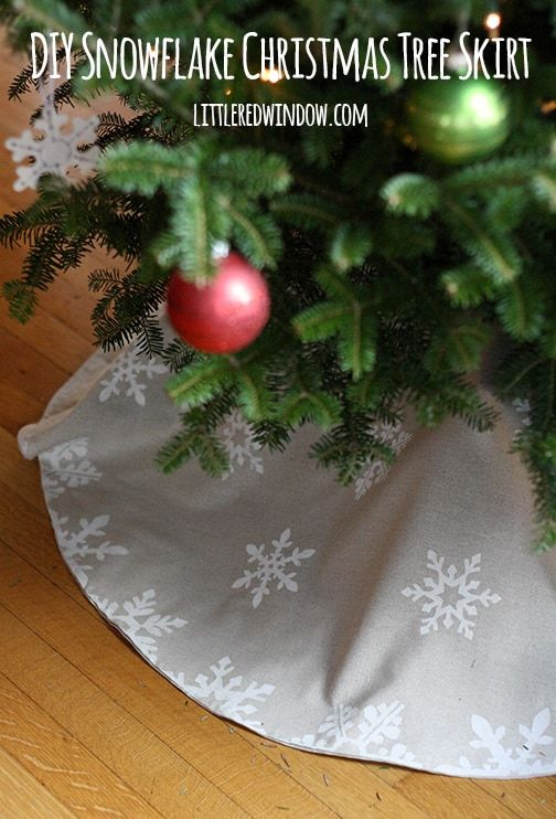 homemade tree skirt
