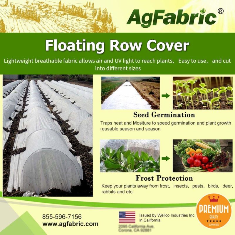 Agfabric 10 x 12 foot Floating Row Cover Plant Blanket