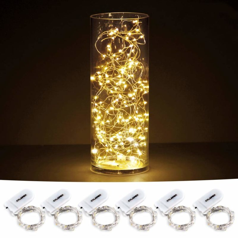CYLAPEX Battery-operated Christmas Lights 6-pack