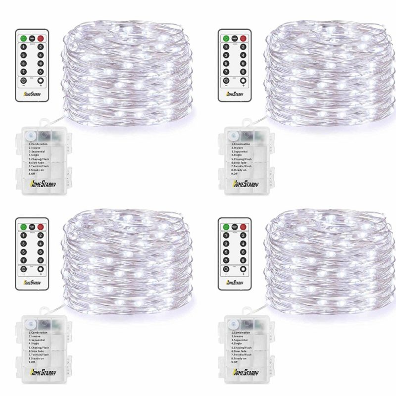 Homestarry 4 Pack Battery-operated Christmas Lights - 10 Best Battery-Operated Christmas Lights For A Fantastic Festive