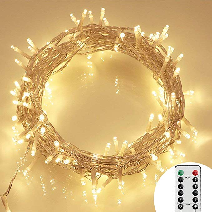 Koopower 36ft 100 LED Battery-operated Christmas Lights