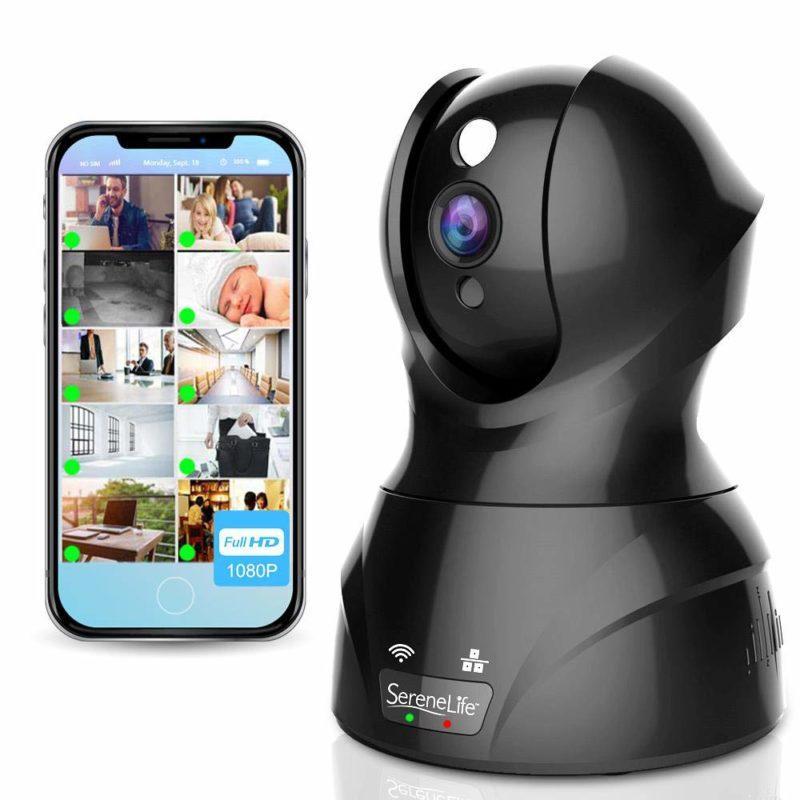 Pyle SereneLife IPCAMHD82 Indoor Wireless Home Security Camera