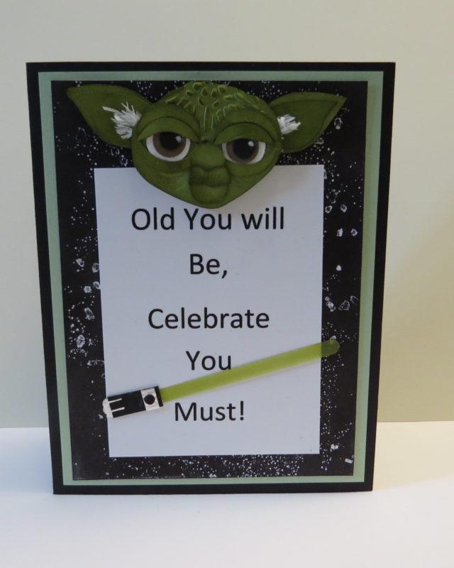 star wars DIY birthday card